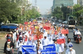 Vdè Myanmar móng mongzøl lvm dvpvt vbī boq waboq mongzøl dø tvrà dìnø vjúrøt we: (28.2.2021)